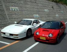 フェラーリを並べる