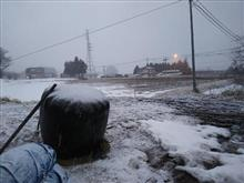 雪かい・・・(-_-;)