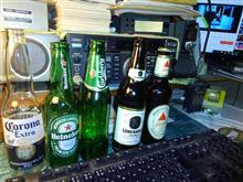 今宵は瓶ビールで