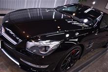 最高級ロードスター!メルセデス・ベンツSL63 AMGのガラスコーティング【リボルト千葉】