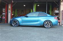 BMW F87 M2 車高調整とアライメント