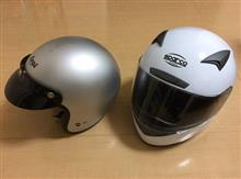 ヘルメット新調+RE003