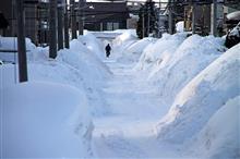 邪魔な雪山とDEMIO…