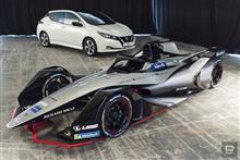 日産がフォーミュラE参戦マシンを公開。市販EV「リーフ」の開発ノウハウ注ぎ込み勝利を狙う