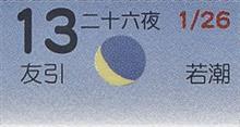 月暦 3月13日(火)