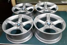 BMW純正19インチ/ガリ傷修理パウダーシルバー+パウダークリアーフルパウダーコート