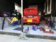 ガレージ作業。