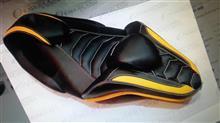 Yamaha Aerox 155 - Jok Mbtech Cobra New Kulit:YAMAHA Aerox 155 用のいいシート。YELLOW・・YELLOX:シート