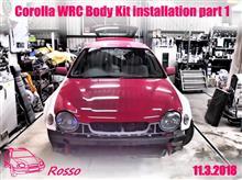 Corolla WRC Body Kit installation part 1