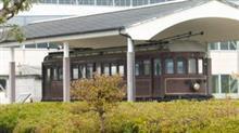 五位堂車庫の近鉄第1号電車