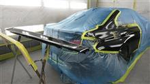 『BMW320i 両側面板金・塗装・修理、ボディ磨き&ジーゾックスリアルガラスコート艶プラス施工』 東京都立川市内よりご来店のお客様です。