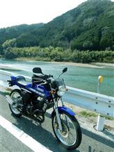 仁淀川沿いをツーリング