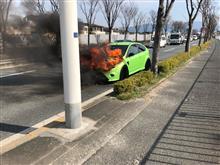 2号機車両火災、炎上