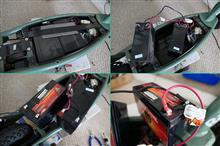 電動キックボードのバッテリー交換