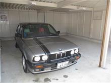 流星号(BMW E30 320i)を初めて入れてみました。(昨日です)