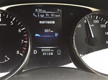 走行距離、8万キロ