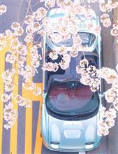 AZ-1のある風景 お花見ドライブ