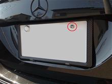 カーボン調ナンバーフレームとセキュリティ 固定ボルト取り付けました。