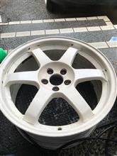 TE37 ホワイト塗装完了♪( ´▽`)