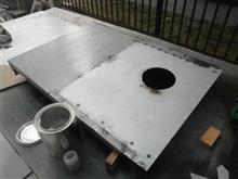 スクリューコンプレッサーのレストア 13 外装のレストア板金作業