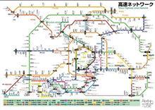関東圏の高速道路路線図マップJR風ですってー