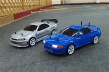 R32 vs R34 GT-R対決‼