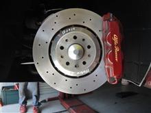 アルファロメオ4C ブレーキディスクローター研磨でブレーキディスクローターの熱歪みを解消!T.BASEブレーキディスクローター研磨