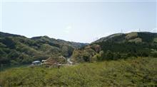 遠くのお山が綺麗な初夏のような春の日
