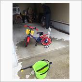 自転車、三輪車 洗車