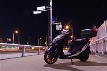 夜撮だけのつもりがシグナスXプチオフ カメラ女子夜の部(^^ゞ
