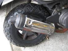 タイヤ交換②とブレーキ整備