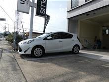 トヨタ  アクアにハイグレードモデル取付です。