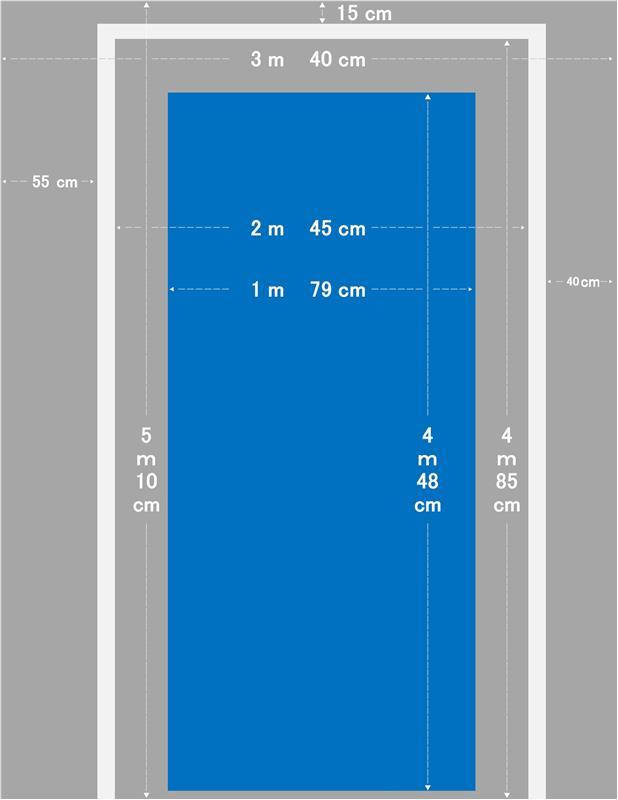新型日産リーフプロパイロットパーキング用白線を自宅の駐車場に引いて