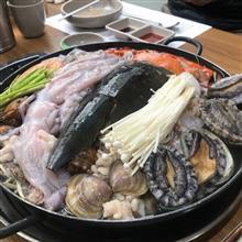 釜山で海鮮鍋