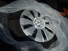 VWアップ!純正タイヤ&ホイルキャップ: 引き渡し完了(^^♪