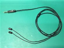 mmcx用アンバランスケーブル作成(102SSCリッツ線, 3.5mm3極)