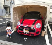 【MINI】洗車してガレージ戻して。
