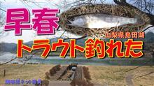 早春のトラウト釣り「オイカワ釣りに行ったらヤマメが釣れた!」健啖隊ネット隊員(y.katsu)