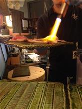 今夜は肉寿司。