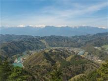 犀川と北アルプスを望む山  京ヶ倉へ