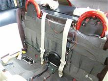 防音対策シートがベルトに干渉