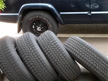 チェロキー夏支度 タイヤを交換