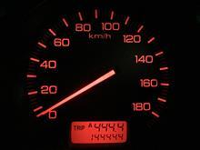 144.444kmになりました。