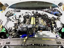 クルーズ R35エンジン始動前の油圧上げですがガガガ~!