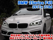 BMW 2シリーズ(F45) 純正渋滞アシストスイッチ/ステアリングホイールヒーター後付装着