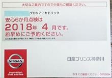 【グロリア&E550】6カ月点検