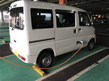 イオンモール浜松市野の6kW充電器とミニキャブ・ミーブ
