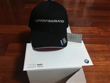 BMW M Performance キャップ当選しました