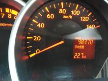 今日の燃費 22.7km