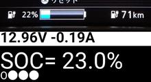 ZE1リーフ メータパネル電池残量とLeaf Spy SOCとの関係